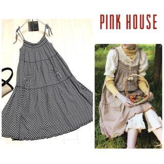 PINK HOUSE - 【ピンクハウス】ギンガムチェック キャミワンピース 美品