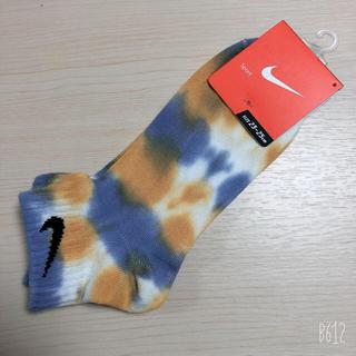NIKE - ナイキ NIKE タイダイ柄 染め イエロー系 ソックス 靴下 23-25cm