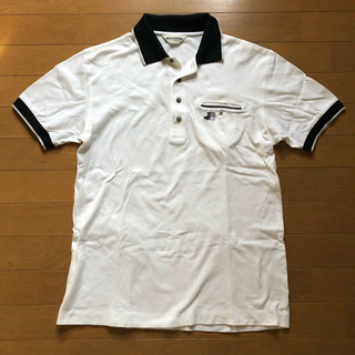 black & white★vintage★ポロシャツ★古着★ゴルフ★ウェア★(ポロシャツ)