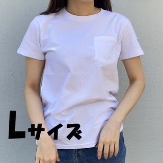 ザノースフェイス(THE NORTH FACE)の送料込★Lサイズ★ノースフェイス シンプル ロゴ ポケット 白 レディース(Tシャツ(半袖/袖なし))