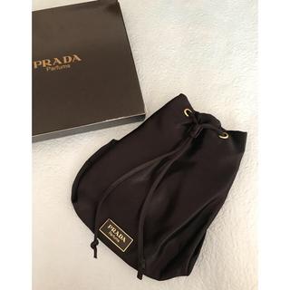 PRADA - PRADA  プラダ パルファム プレート付き 巾着バッグ 未使用 3-48