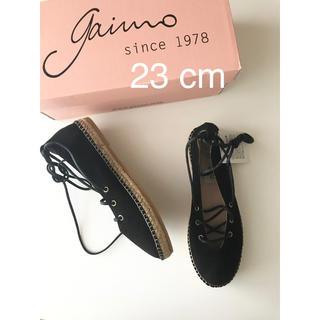 gaimo - GAIMO ガイモ レースアップシューズサイズ36 23cm 黒 スペイン