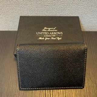 ユナイテッドアローズ(UNITED ARROWS)の(新品・未使用) ユナイテッドアローズ カードケース 名刺入れ 黒 (名刺入れ/定期入れ)
