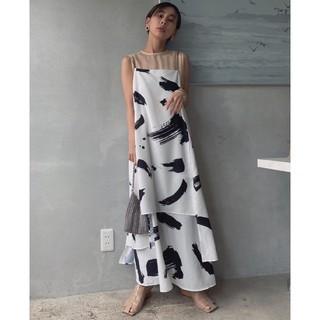 Ameri VINTAGE - アメリヴィンテージ MEDI INK LAYERED DRESS