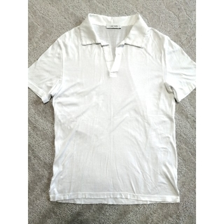 クルチアーニ(Cruciani)のCRUCIANI クルチアーニ コットン スキッパー ポロシャツ ホワイト(ポロシャツ)