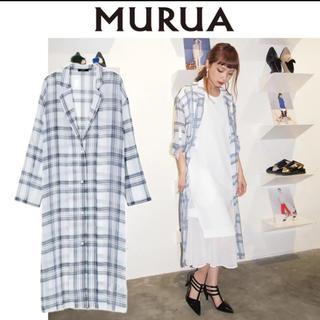 MURUA - MURUA マルチカラーチェックロングシャツ