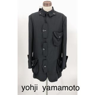 ヨウジヤマモト(Yohji Yamamoto)の[新品未使用]  yohji yamamoto シワギャバ角フラップジャケット(テーラードジャケット)