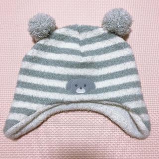 ニシマツヤ(西松屋)の✴︎西松屋 ベビーニット帽 試着のみの美品✴︎(帽子)