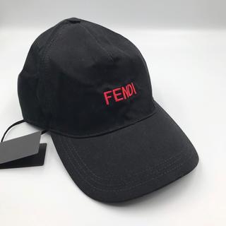 フェンディ(FENDI)の【新品未使用】FENDI フェンディ  帽子 キャップ ロゴ ベースボール(キャップ)