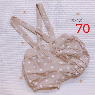 しまむら - birthday ドット柄かぼちゃパンツ 70