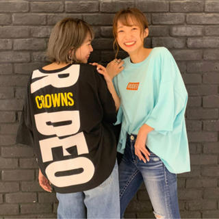 RODEO CROWNS WIDE BOWL - ロデオ★ ネオン3D刺繍Tシャツ【ブラック】