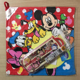 ディズニー(Disney)の③ ディズニーキャラクター スライド式 トリオセット+おまけ付き(弁当用品)