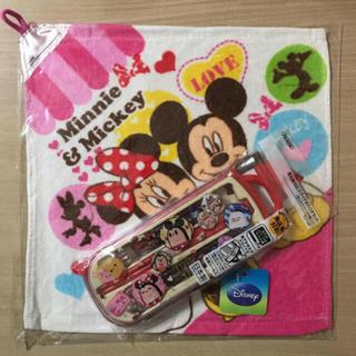 ディズニー(Disney)の④ ディズニーキャラクター スライド式 トリオセット+おまけ付き(弁当用品)