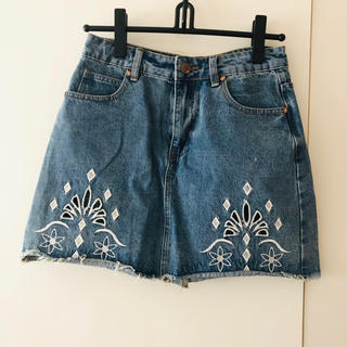 PAGEBOY - 刺繍 デニム スカート