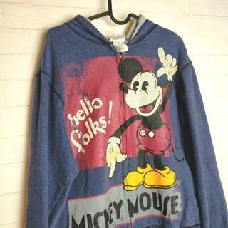 ディズニー(Disney)のヴィンテージ ディズニー オールドミッキーパーカー サイズアメリカS(パーカー)