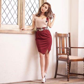 デイジーストア(dazzy store)のキャバドレス スカーフ ベルト付き(ナイトドレス)