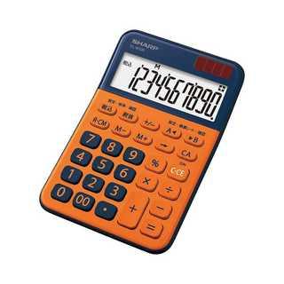 シャープ カラーデザイン電卓 10桁表示 オレンジ系 EL-(その他)