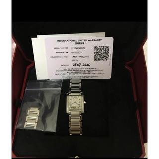 カルティエ(Cartier)のタンクフランセーズ sm ステンレス(腕時計)