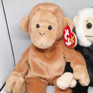 トイザラス(トイザらス)のビーニーベイビーズ Bongo & Mooch セット 猿 ぬいぐるみ(ぬいぐるみ)