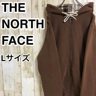 ザノースフェイス(THE NORTH FACE)のザ ノースフェイス フルジップパーカー L ブラウン アースカラー ネームタグ(パーカー)