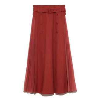 リリーブラウン(Lily Brown)の新品タグ付✨異素材切替プリーツスカート(ロングスカート)