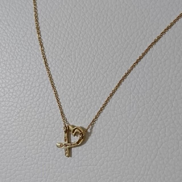 Tiffany & Co.(ティファニー)のティファニーK18YGラビングハート レディースのアクセサリー(ネックレス)の商品写真