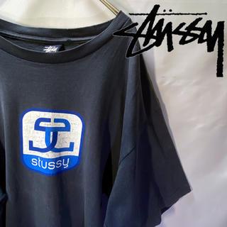 STUSSY - OLD STUSSY ロゴ 半袖Tシャツ 90s 後期〜 紺タグ XL USA製