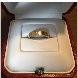 カルティエ(Cartier)のカルティエ ラブリング ピンクゴールド 9号 美品(リング(指輪))