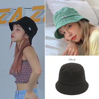 STYLENANDA - 完売 STYLENANDA ナチュラルコットンバケットハット 黒 バケハ 帽子