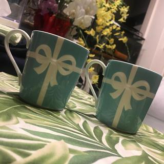 ティファニー(Tiffany & Co.)の正規品 ティファニー  マグカップ 2個セット(グラス/カップ)