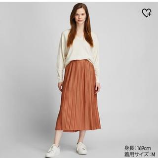 ユニクロ(UNIQLO)のユニクロ ランダムプリーツロングスカート(ロングスカート)