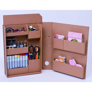 ムジルシリョウヒン(MUJI (無印良品))の収納ボックス A4 文房具 化粧品 ファイル バインダー クラフト 2点セット(ファイル/バインダー)