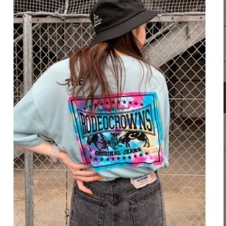 RODEO CROWNS WIDE BOWL - ♪ビッグTシャツ☆サックスブルー♪
