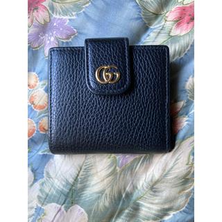 Gucci - GUCCI グッチ プチマーモント 523193 GGロゴ ブラック