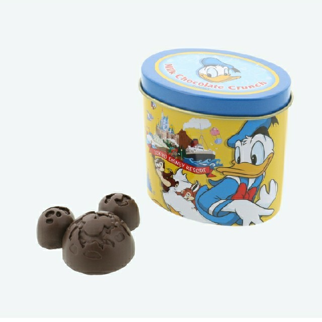 Disney(ディズニー)の東京ディズニーリゾート限定品 チョコレートクランチ缶 消しゴム TDR  エンタメ/ホビーのおもちゃ/ぬいぐるみ(キャラクターグッズ)の商品写真
