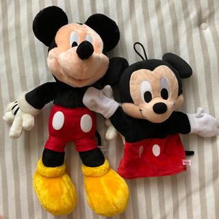 ミッキーマウス - 美品です!ミッキー ぬいぐるみ 二つセット