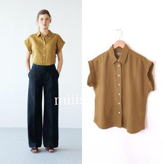 MARGARET HOWELL - 2017 マーガレットハウエル リネン100% 襟付きボーイフレンドシャツ