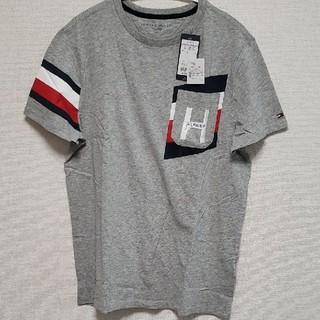 TOMMY HILFIGER - トミーヒルフィガー Tシャツ グレー ロゴ 胸ポケット