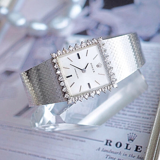 ROLEX - 美品♦︎ロレックス スクエアダイヤベゼル 時計♦︎カルティエ オメガ ロンジン
