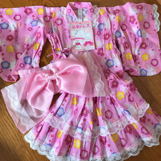 浴衣 キラキラ浴衣 浴衣ドレス 80(ドレス/フォーマル)