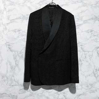 ディオール(Dior)のDIOR 19AW ブラックウールダブルブレステッドジャケット(テーラードジャケット)