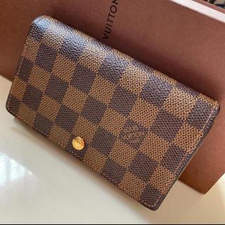 LOUIS VUITTON - 美品です正規品ルイヴィトン ダミエ L字ファスナー 折財布