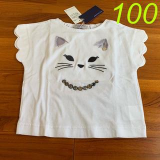 ANNA SUI mini - 100 アナスイミニ 猫顔Tシャツ