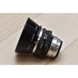 Nikkor-S 5cm F1.4、専用フード付き