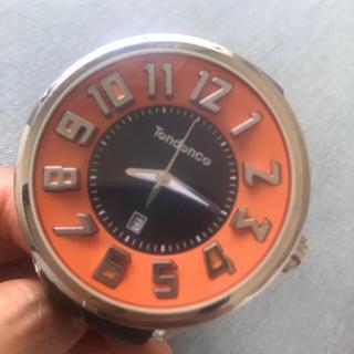 テンデンス(Tendence)のtendence テンデンス 中古 ブラック×オレンジ(腕時計(アナログ))