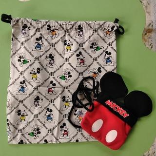 ミッキーマウス - ミッキー パスケース&巾着