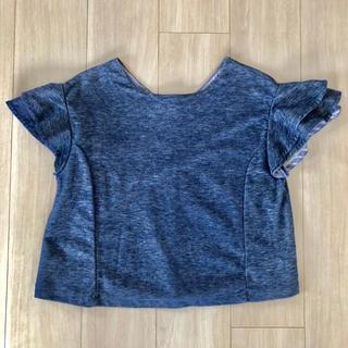 ROSE BUD 袖フリルトップス Tシャツ(Tシャツ(半袖/袖なし))