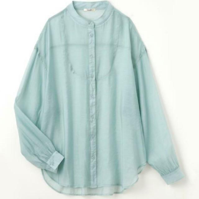 しまむら(シマムラ)のプチプラのあや しまむら シアーシャツ レディースのトップス(シャツ/ブラウス(長袖/七分))の商品写真