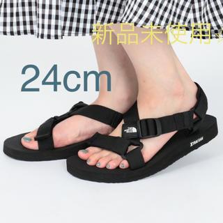 ザノースフェイス(THE NORTH FACE)の新品未使用 Ultra Stratum Sandal  24センチ ブラック(サンダル)