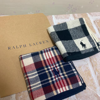 POLO RALPH LAUREN - Ralph Lauren ラルフローレン ガーゼタオルハンカチ ハンカチ タオル
